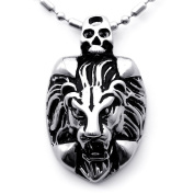 TungstenLove Tribal Biker Men's Casting 316l Stainless Steel Lion Pendant Necklace Fashion Jewellery