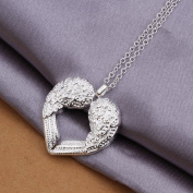 DUMAN Fashion Jewellery Neckwear Silver Plated Angel Wings Heart Necklace Valentine's day, Christmas Gifts