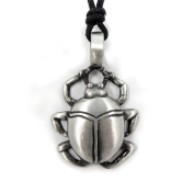 Mystical & Magical Pewter Egyptian Scarab Beetle Holy Magic Amulet Pendant