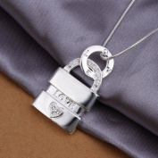 DUMAN Fashion Jewellery Neckwear Silver Plated Love Heart Lock Necklace Valentine's day, Christmas Gifts