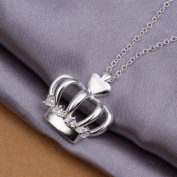 DUMAN Fashion Jewellery Neckwear Silver Plated Imperial Crown Necklace Valentine's day, Christmas Gifts