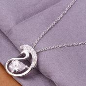 DUMAN Fashion Jewellery Neckwear Silver Plated Rhinstone Swan Necklace Valentine's day, Christmas Gifts