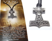 Small Detailed Thors Hammer Pendant / Necklace
