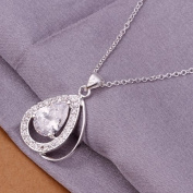 DUMAN Fashion Jewellery Neckwear Silver Plated Rhinestone Water-drop Necklace Valentine's day, Christmas Gifts