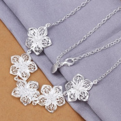 DUMAN Fashion Jewellery Neckwear Silver Plated Five Peach Blossoms Necklace Valentine's day, Christmas Gifts