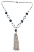 cut with facets black crystal Necklace