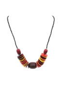 Katangi Handcrafts Coconut with Amber Beads Necklace