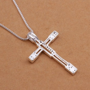 DUMAN Fashion Jewellery Neckwear Silver Plated Hollow Rhinestone Cross Necklace Valentine's day, Christmas Gifts