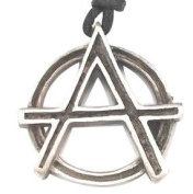 Anarchy Rocking Pewter Pendant Necklace