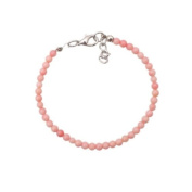Bracelet made of pink coral in 4mm beads