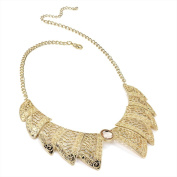 Bling Online Gold Tone Collar Style Statement Necklace with Crystal.