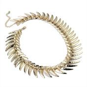 Bling Online Herring Bone Link Design Necklace.