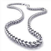 JewelryWe New Silver Mechanic Style 316l Stainless Steel Mens Link Chain Necklace Neckware 60cm