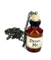 Alice in Wonderland Drink Me Bottle Necklace Brand New In Gift Box