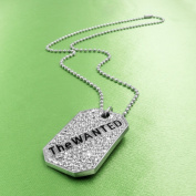 The Wanted Crystal Dog Tag Necklace