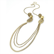 Burnished Gold Effect Chain Necklace