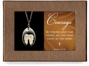 Courage Angel Wings Gift Boxed Pendant