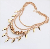 Wind Cone metal Multilayer Collar Necklace