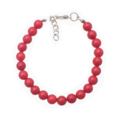 Bracelet made of red coral in 7mm beads