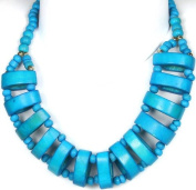 Turquoise-Coloured Beaded Necklace - Beads