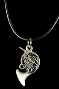 French Horn Necklace - Pewter