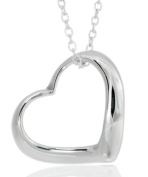 Toucan of Scotland Sterling Silver Open Heart Pendant - 15mm x 15mm with 18 inch curb chain and supplied in our quality gift box.