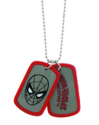 Marvel Comics Spider-Man Double Sided Red Dog Tag Men's Pendant Necklace