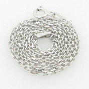 IcedTime-Silver-Necklace-Chains Ladies .925 Italian Sterling Silver Rolo Link Chain Length - 16 inches Width - 1.5mm