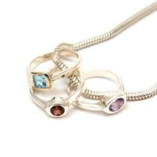 The Olivia Collection Sterling Silver Triple Ring Pendant on 41cm Chain