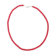 Necklace 60 cm made of red coral in 5mm beads