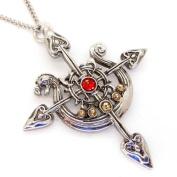 Yorvik Compass Dragon Longboat Pendant Necklace