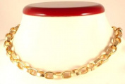 Gold coloured metal chain with T-Bar clasp - 12589