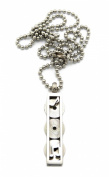 """3 Piece Record Disc Charm Necklace w/ 2mm 24"""" Stainless Steel Ball Chain - Silver Plated"""