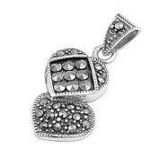 Sterling Silver Pendant With Marcasite