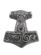 Viking Pagan Skane Hammer Mjolnir Pendant - Green