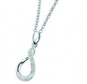 Elements Sterling Silver Ladies N2508 Twisted Diamond Cut Necklace
