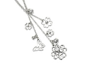 Fiorelli Clear Crystal Flower Drop Necklace
