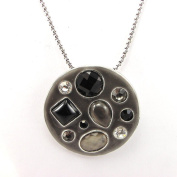 """Necklace 'french touch' """"Mélusine"""" grey."""