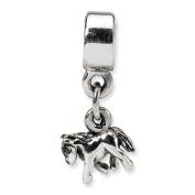 Sterling Silver Reflections Kids Pony Dangle Bead Charm - JewelryWeb