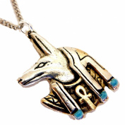 Anubis Jackal Head Pendant Necklace