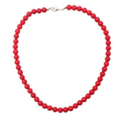 Necklace 45 cm made of red coral in 8mm beads