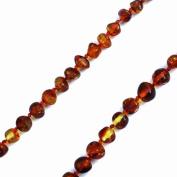 Cognac Baltic Amber Necklace 46cm . Genuine Baltic Amber
