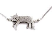 Sleeping cat necklace