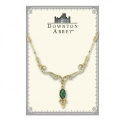 The Downton Abbey Collection Emerald Crystal Gold Scroll Necklace 17509