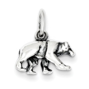 Sterling Silver Bear Charm - JewelryWeb