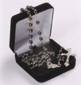 Haematite Boxed Rosary Bead. Traditional Catholic Rosary. Haematite Beads