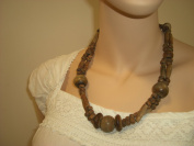 Goethnic Handmade Wooden Necklace With Beads And Balls Fully Double Stranded Wooden Beads