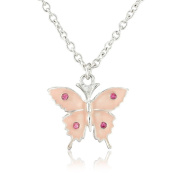 Pretty Pink Butterfly Necklace