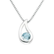 Blue Topaz Drop Necklace-Sterling Silver and Topaz Elegant Pendant - Stunning Gift for Her - Blue Topaz - Beautiful Gift for Her - Birthday, Christmas, Valentine's Day Gift
