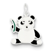 Sterling Silver Enamelled Panda Bear Charm - JewelryWeb